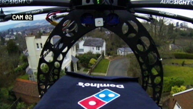 VIDEO: Dominos Pizza releases video of its product being delivered in Britain with the Domicopter.