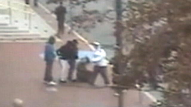 VIDEO: A woman in Boston was punched by two attackers while witnesses looked on.