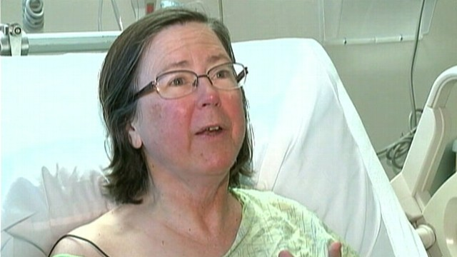 VIDEO: Victoria Grover, 59, broke her leg and had no food supply.