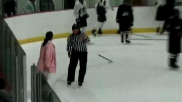 VIDEO: Mom yells at referees for failing to stop brawl at youth game near Boston.