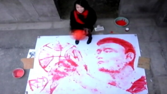 VIDEO: Youll be dazzled by this young artist?s ability to paint with a basketball.