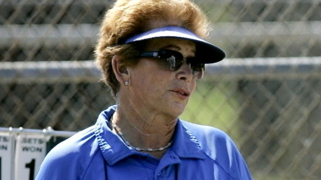 VIDEO: Lois Goodman was arrested before the U.S. open on charges she murdered her husband.