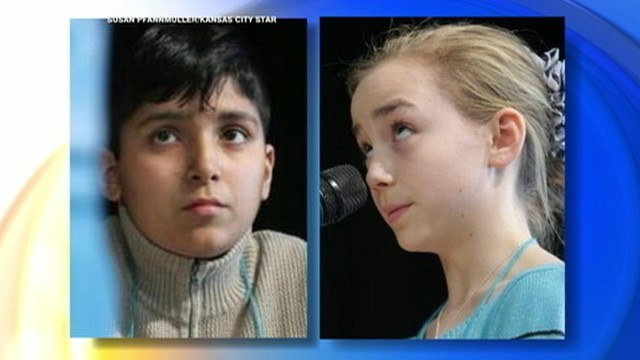 VIDEO: Two Missouri students went more than 60 rounds in a spelling bee on Saturday.
