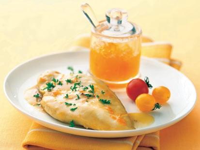 Glaze of sunshine apricot chicken