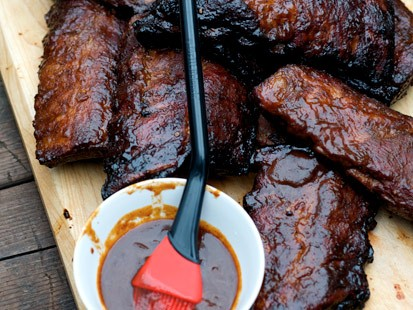 Backyard Barbecue Ribs with Dr. Pepper Barbecue Sauce