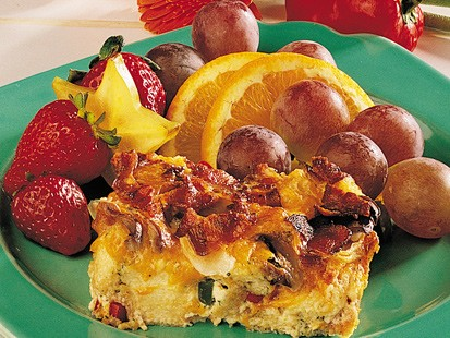 PHOTO A fluffy egg casserole is shown.