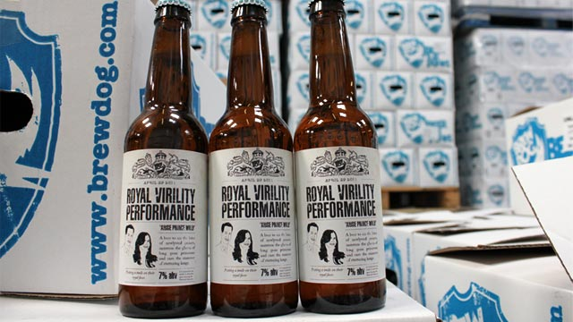 PHOTO: BrewDogs The Royal Virility Performance beer