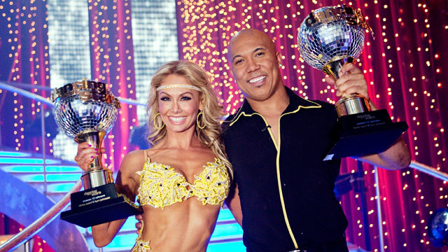PHOTO:Hines Ward and Kym Johnson were named as Season 12s champions of Dancing with the Stars and winners of the coveted mirror ball trophy, on the Season Finale on May 24, 2011.