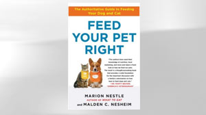 "PHOTO The book ""Feed Your Pet Right"" by Marion Nestle and Malden C. Nesheim is shown."