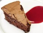 PHOTO Clinton Street Baking Companys Flourless Chocolate Cake is shown here.