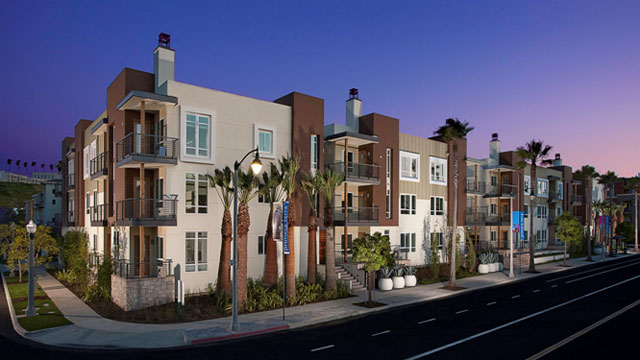 PHOTO:KB Homes Primera Terra residential community located in Playa Vista, California. It is the largest LEED Platinum-certified residential community in California, featuring energy-efficient tankless water