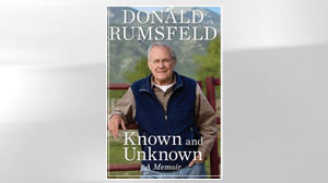 """PHOTO The cover of Donald Rumsfelds book """"Known and Unknown A Memoir,"""" is shown."""