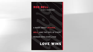 "PHOTO The cover of the book ""Love Wins"" by Rob Bell is shown."
