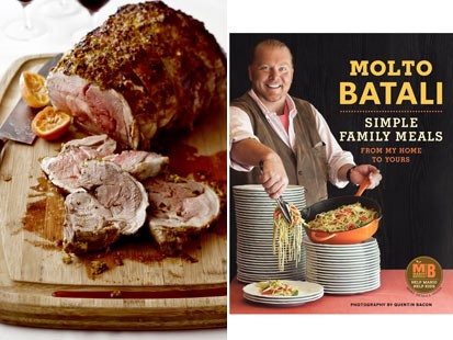 PHOTO:??Mario Batalis leg of lamb in a clementine crust from Molto Batali.