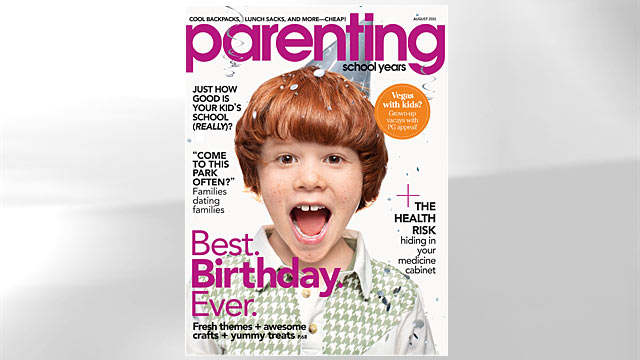 PHOTO: Seen her is the cover of Parenting magazine.