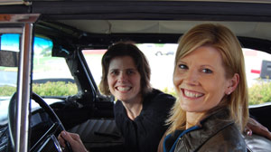 Kate Snow drives along Route 66.