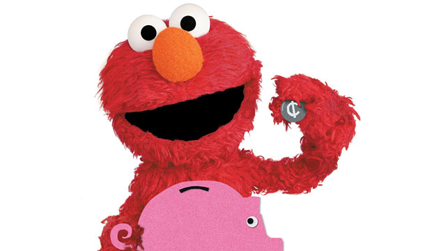 PHOTO:Elmo from Sesame Street educational program.