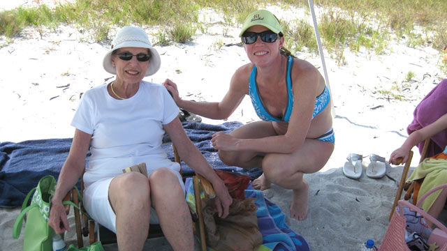 PHOTO:Dr. Christine Teal and her mother, Nancy Brown, enjoy a family vacation after Christys mastectomy to prevent breast cancer.