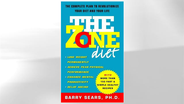 PHOTO: Zone Diet book jacket.