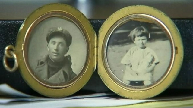 Texas woman believes photos inside locket found in California might be her mother and great-uncle.