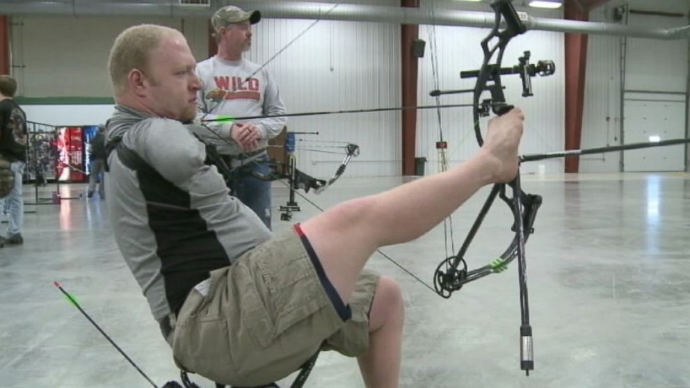 "Matt Stutzman, born without arms, first picked up a bow in 2009 and aims ""to be the best in the world."""