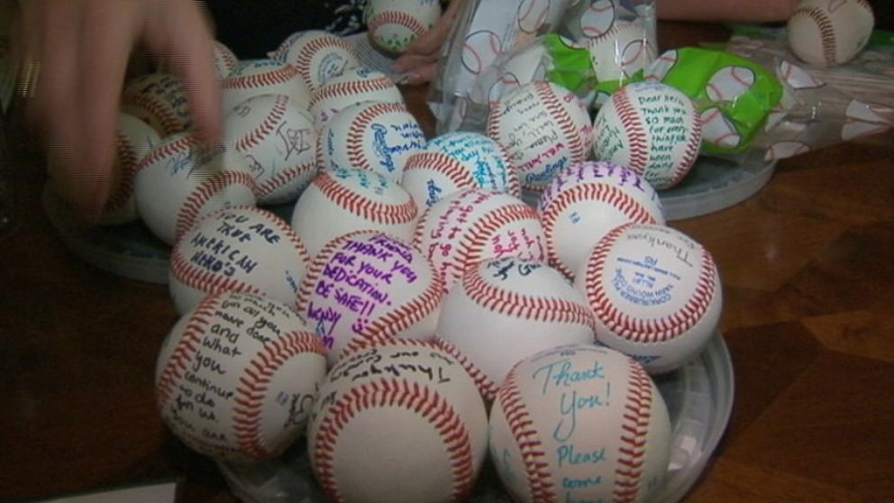 Billy Cook has sent 1,500 baseballs to soldiers serving as far away as Afghanistan.