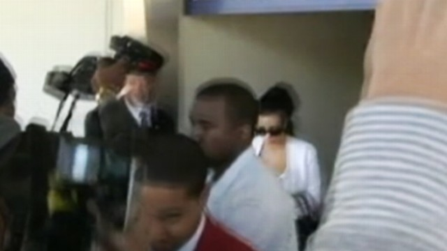 VIDEO: Kanye West and Kim Kardashian delayed their flight after bypassing a security checkpoint at JFK Airport.