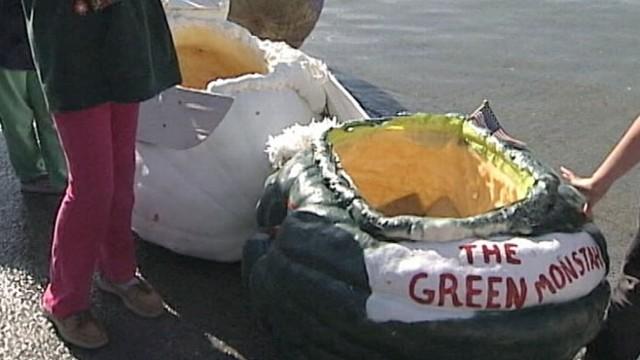 VIDEO: Annual Pumpkin Regatta draws huge crowds at Pumpkinfest in Maine.