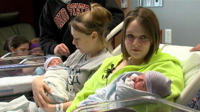 VIDEO: Ohio sisters deliver baby boys two hours apart at the same hospital.
