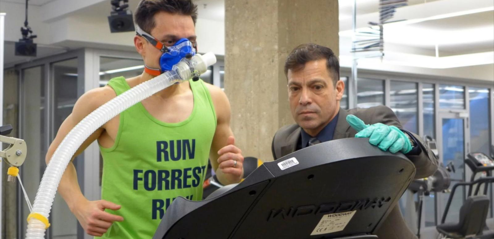 "VIDEO: ABC News Medical Unit Managing Editor Dan Childs paid a visit to NYU Langone's Sports Performance Center to learn about exercise science and experience firsthand what it feels like to ""hit the wall"" while running."