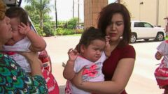 VIDEO: Scarlett and Ximena Hernandez-Torres were born with a third sister as a set of triplets last May.
