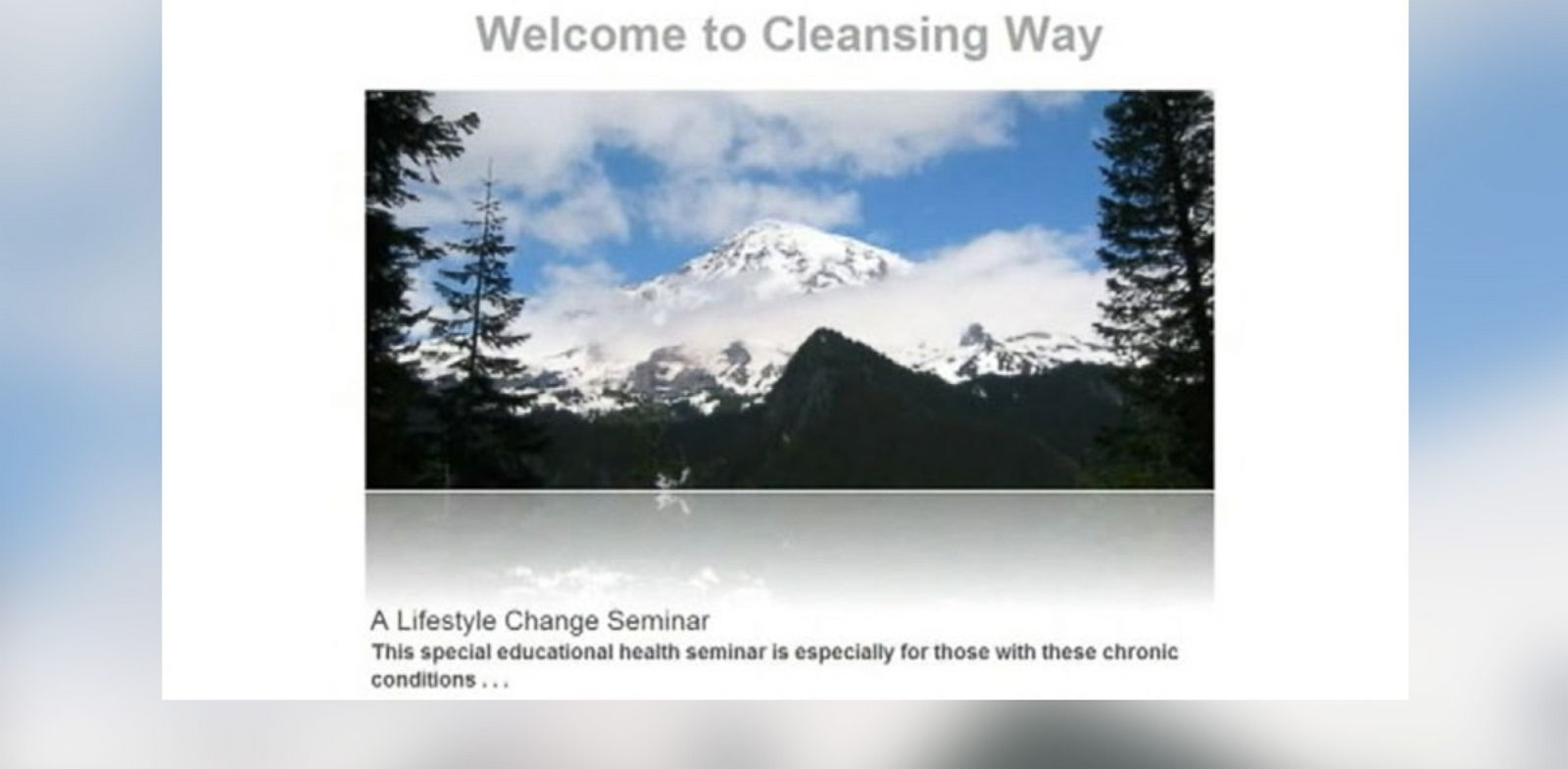 PHOTO: Pictured is a screengrab of the Cleansing Ways website.