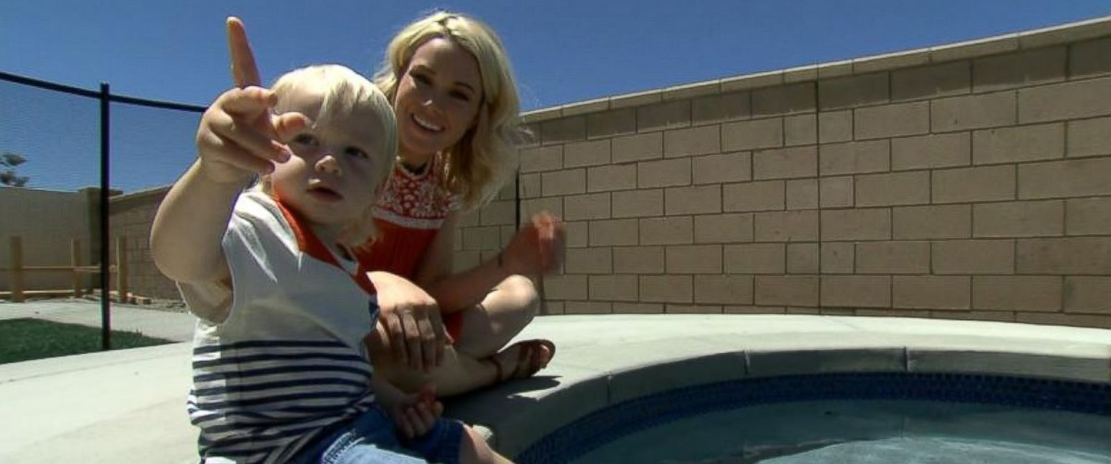 PHOTO: Lindsay Kujawas son Ronin almost died of secondary drowning.