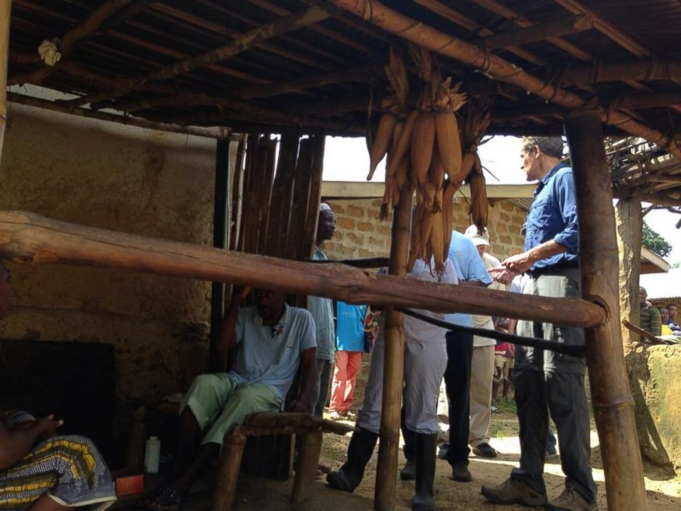 PHOTO: Dr. Richard Besser posted this photo to Twitter with the caption, In village of Mahwa. A baby is sick. Shared bed w/ father who has #Ebola. Taking baby to treatment unit.