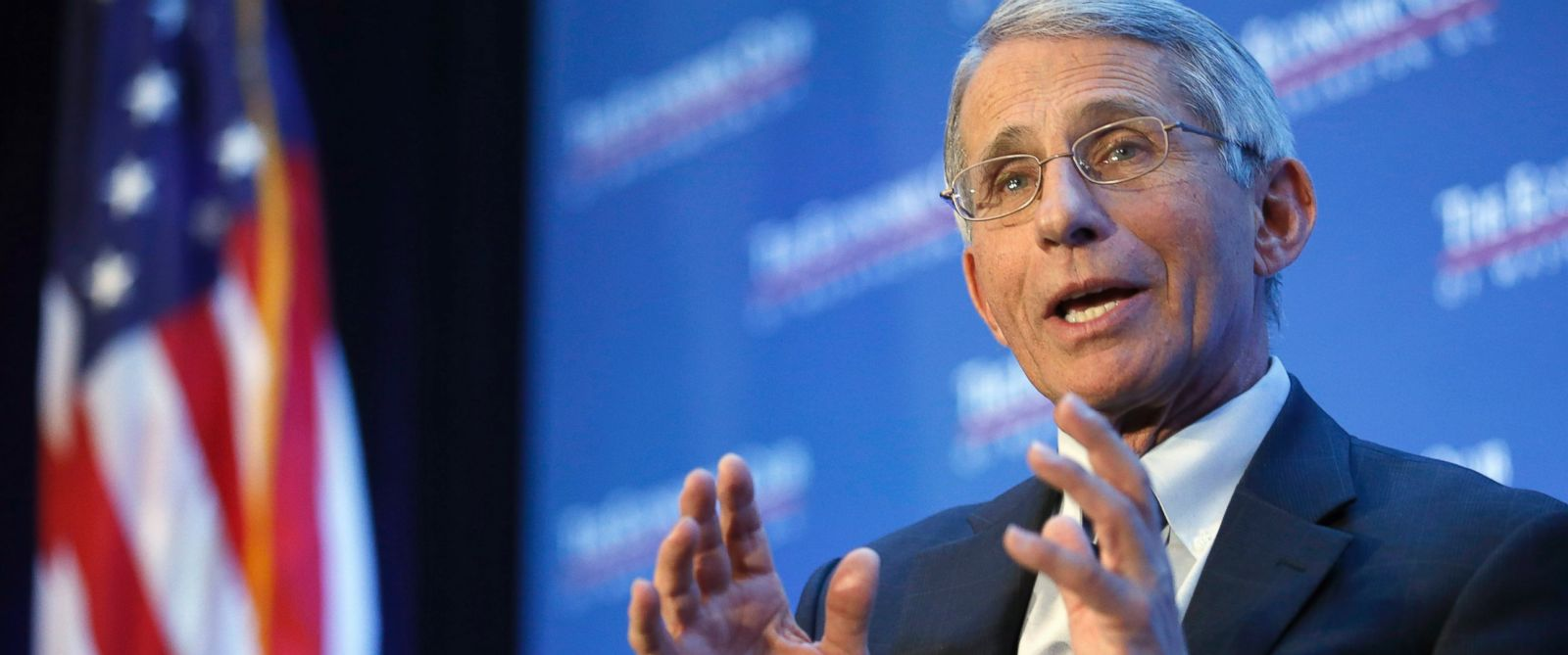 PHOTO: Dr. Anthony Fauci, director of the National Institute of Allergy and Infectious Diseases, speaks at the Economic Club of Washington on various topics including the Zika virus on Jan. 29, 2016, in Washington.
