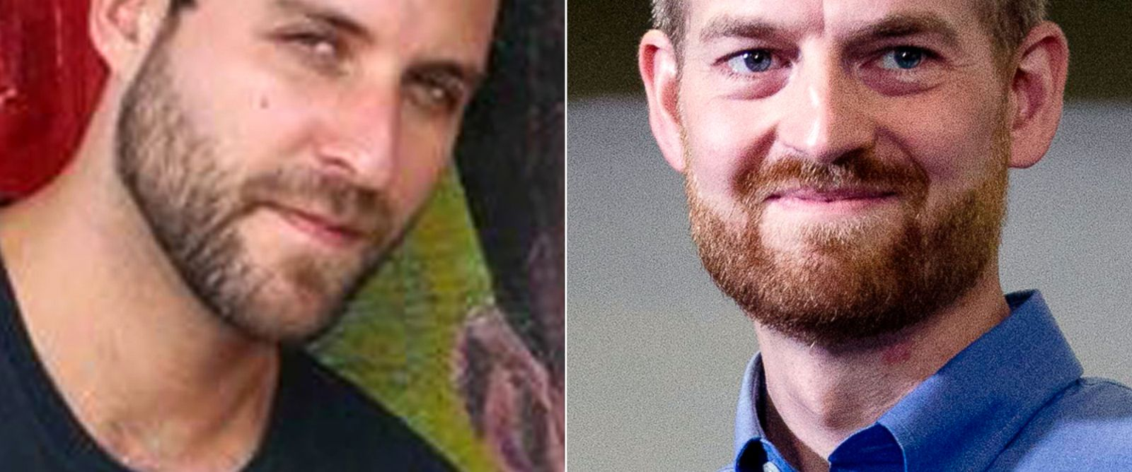 PHOTO: Ashoka Mukpo, pictured in this undated Facebook photo, has been identified as the freelance American journalist who tested positive for Ebola. | Dr. Kent Brantly after being released from Emory University Hospital, Aug. 21, 2014, in Atlanta.