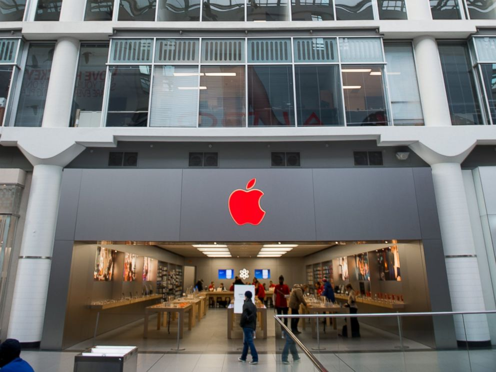PHOTO: The Eaton Centre Apple store turns red as part of the Apple World AIDS Day Campaign for (RED, Dec. 1st, 2014, in Toronto.