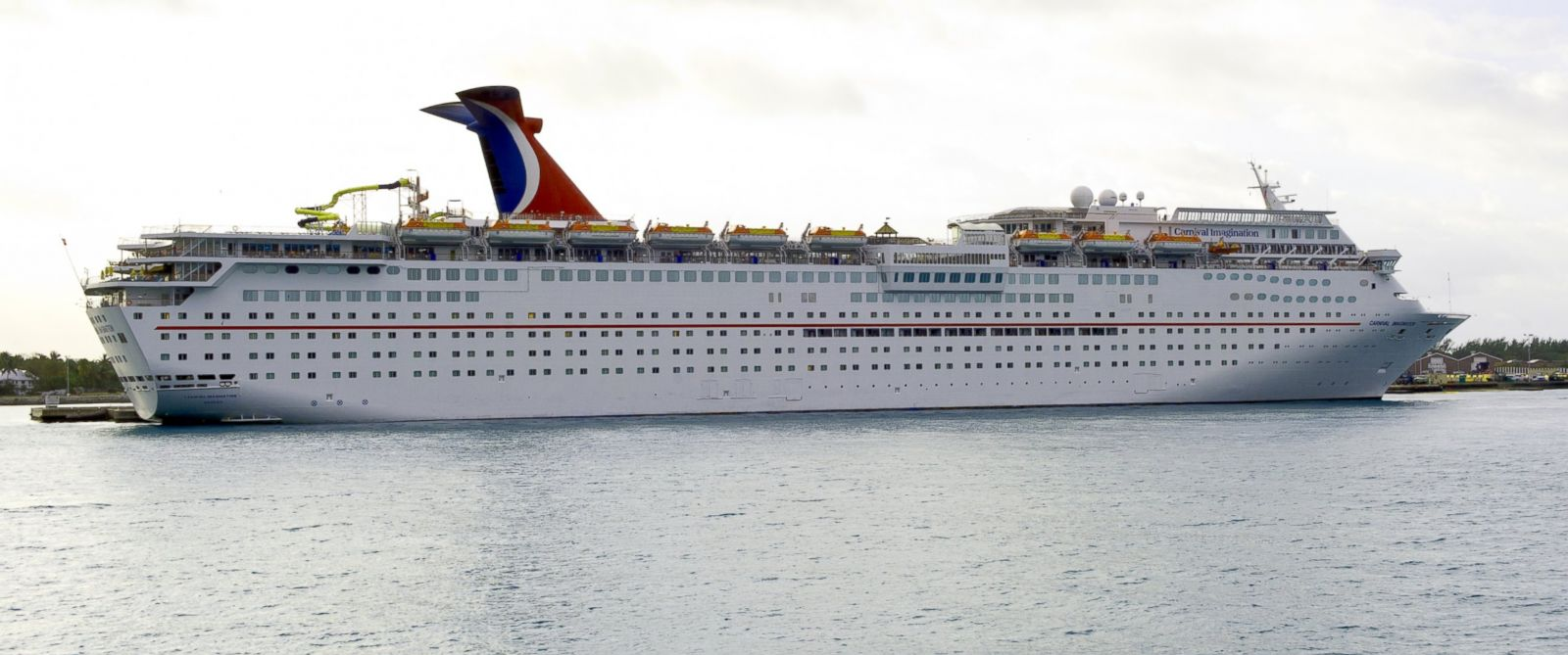 PHOTO: The Carnival Cruise ship Imagination sits in port February 19, 2013 in Key West, Florida.