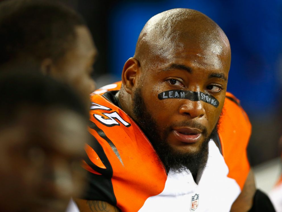 PHOTO: Devon Still #75 of the Cincinnati Bengals looks on during the fourth quarter against the New England Patriots at Gillette Stadium, Oct. 5, 2014 in Foxboro, Mass.