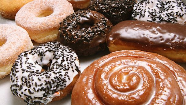 PHOTO: A variety of donuts are shown.