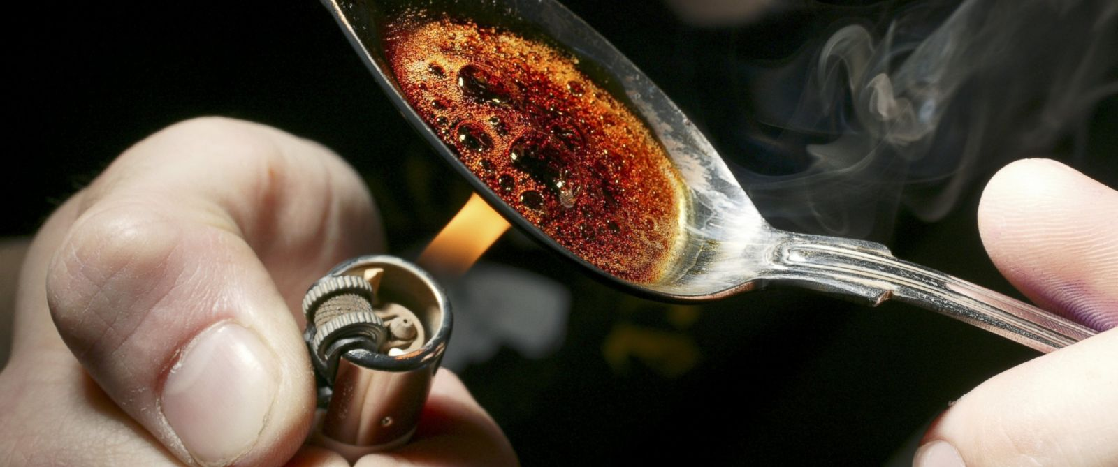 PHOTO: The CDC reported today that heroin use has been on the rise in the U.S. and heroin-related overdoses have tripled since 2010. This picture shows a reenactment of heroin being prepped for use.