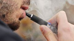 PHOTO: A man uses an electronic cigarette in this undated file photo.
