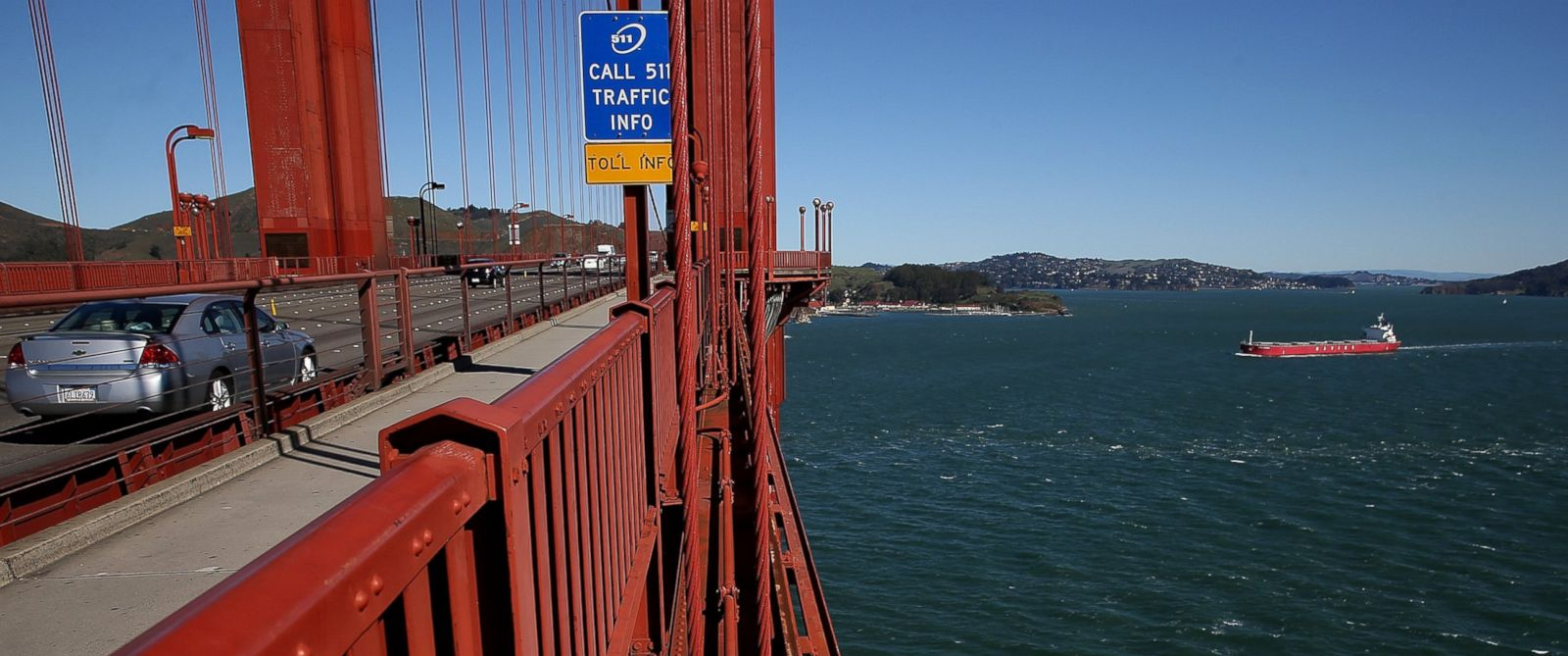 PHOTO: The Golden Gate Bridge is pictured, March 12, 2014, in San Francisco.