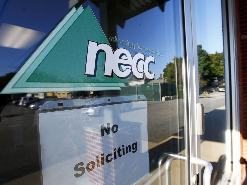 PHOTO: Two co-founders and 12 former employees of the New England Compounding Center, NECC, connected to a deadly fungal meningitis outbreak were arrested, Dec. 17, 2014. NECC in Framingham, Mass., Oct. 5, 2012.
