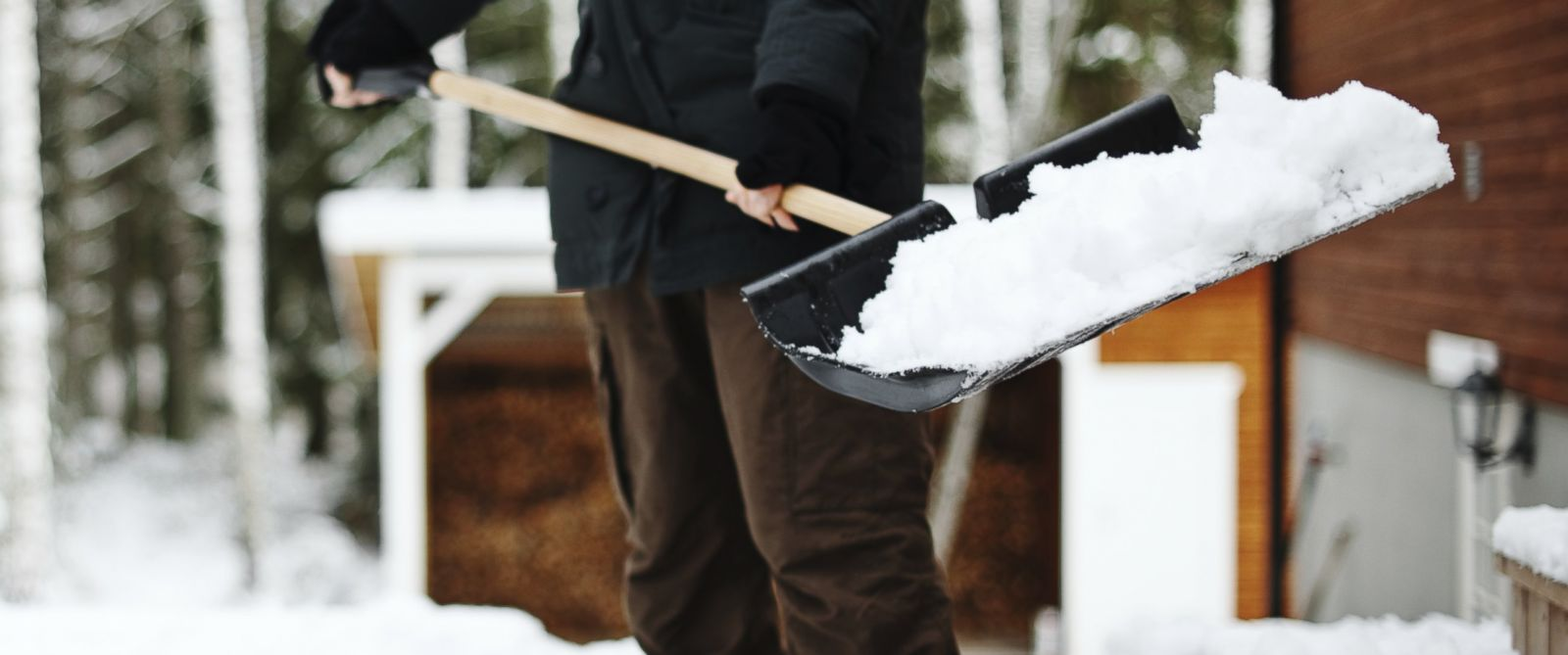 PHOTO: A man is pictured shoveling snow in this stock image.