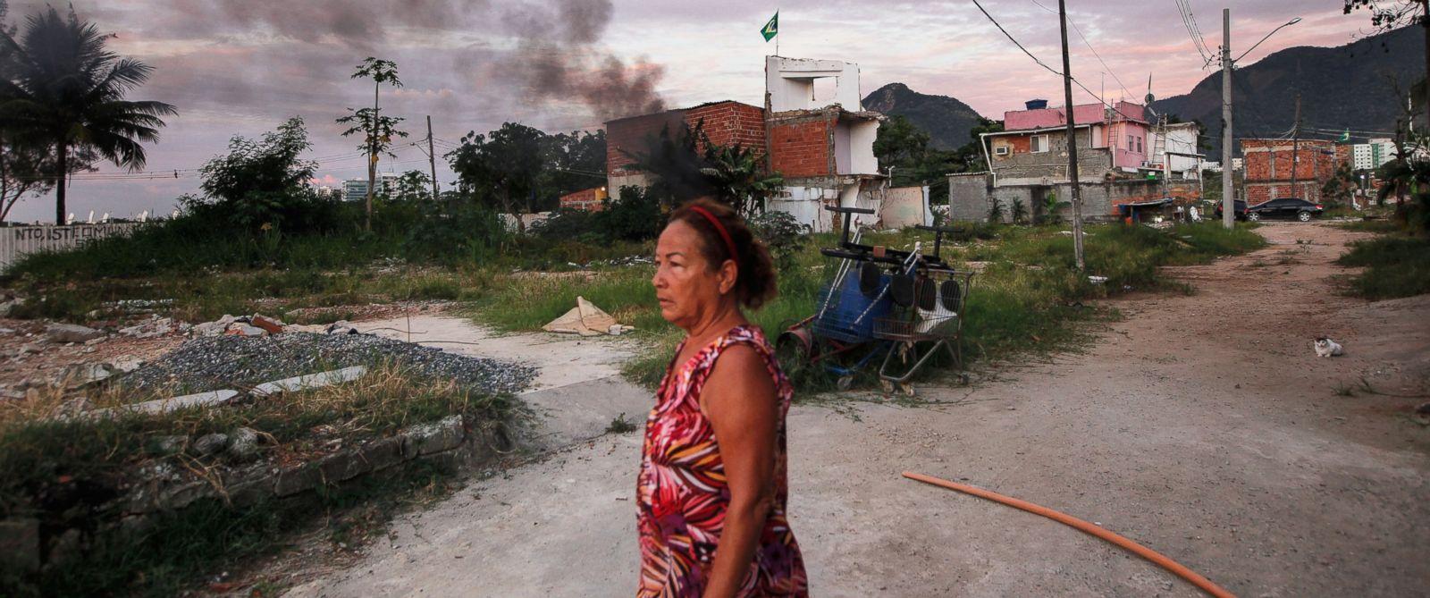 PHOTO:Marize do Amor Divino, who said she was diagnosed with the Zika virus, walks in the mostly demolished Vila Autodromo favela community, Feb. 25, 2016, in Rio de Janeiro.
