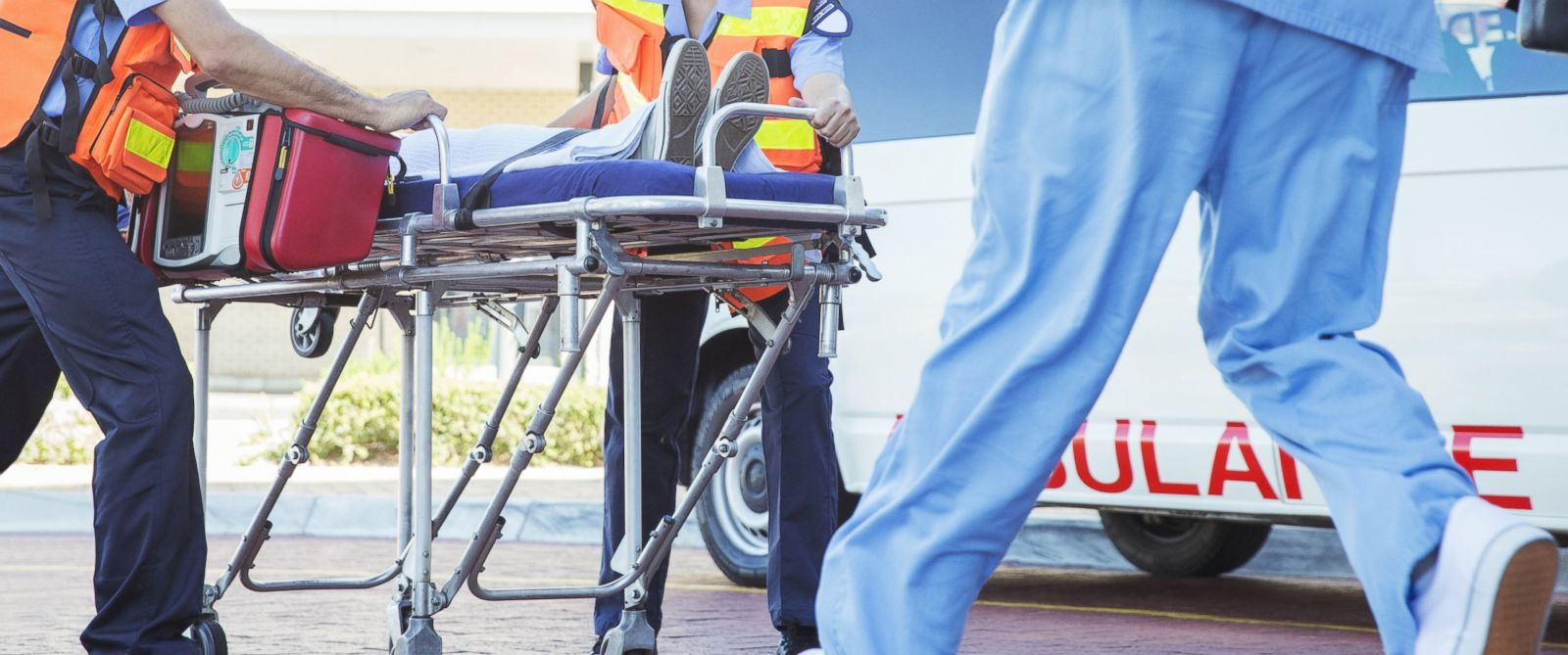 PHOTO: Paramedics wheel a patient into the emergency room in this undated stock image.