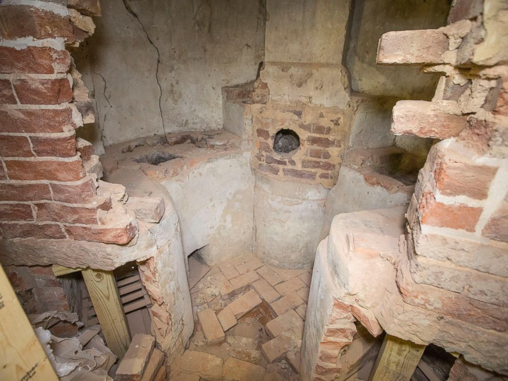 PHOTO: The room has been walled off since 1850 and was only fully discovered during current renovations by chance.
