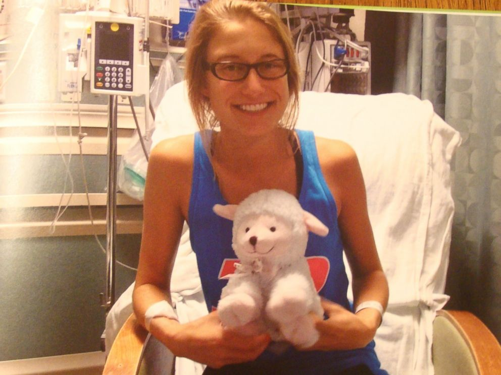 PHOTO: Bailey Personette at Georgetown University donating her bone marrow.