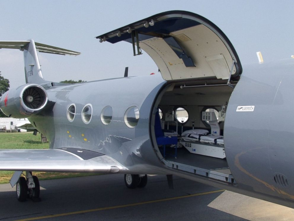 PHOTO: The device is loaded onto a private jet